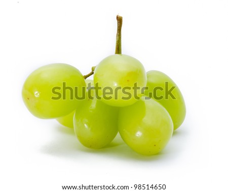 grapes Isolated on the white - stock photo
