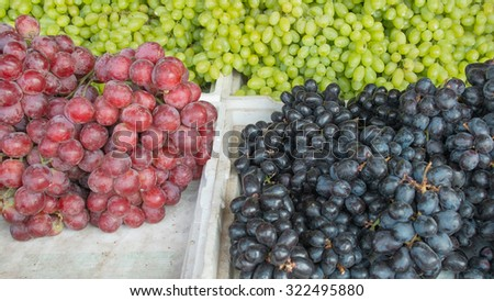 Grapes not cleaning on maket - stock photo