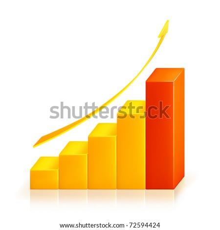 Graph, bitmap copy - stock photo
