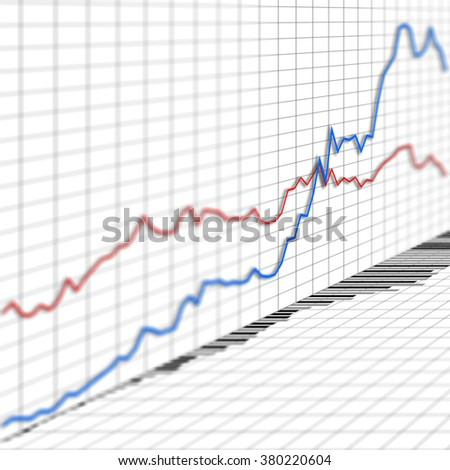 Graph chart and indicator of stock market investment trading