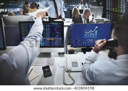 Graph Chart Invest Report Icon Concept - stock photo