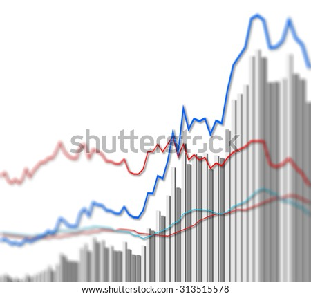 Graph chart of stock market investment trading