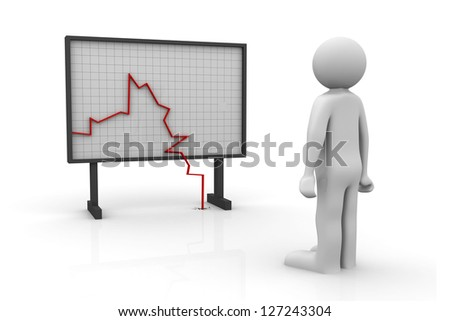 Graph Chart watching - stock photo
