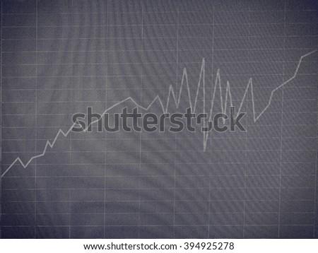 Graph - computer screen - stock photo
