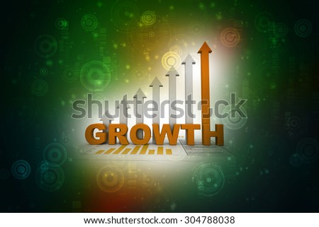 """graph """"growth"""" - stock photo"""