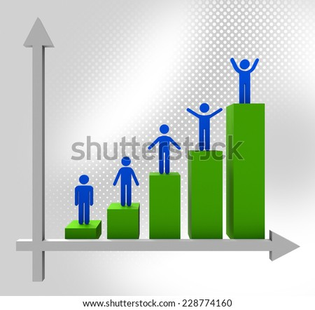 Graph Increasing Showing Finance Data And Financial - stock photo