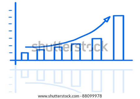 graph isolated on white background - stock photo