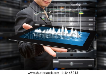 Graph monitor system on tablet
