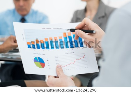 Graph Of Business Budget - stock photo