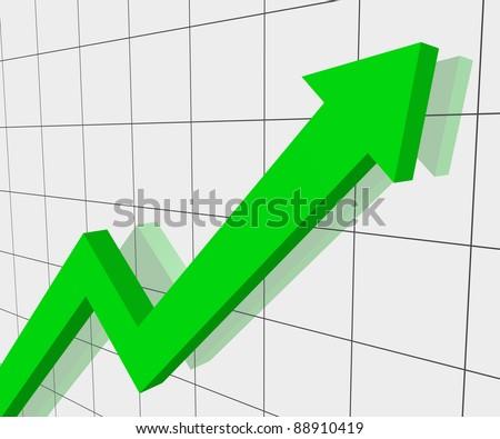 Graph of progress - stock photo