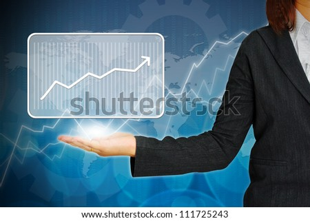 Graph on hand women business