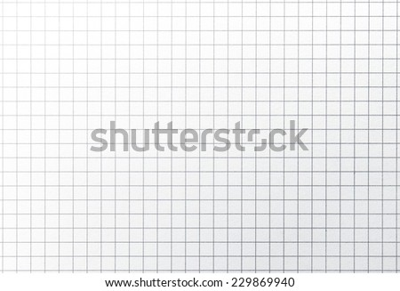 Graph paper background with highlight. Square to image dimension.  - stock photo