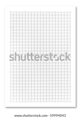 graph paper on white background. .