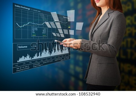 Graph report - stock photo