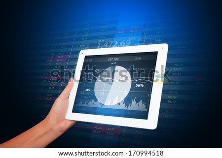 Graph report for financial - stock photo