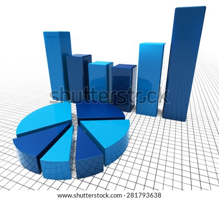 Graph Report Meaning Business Analysis And Infograph - stock photo