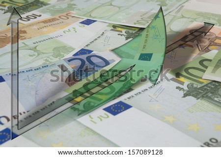 Graph showing economic and financial tendency - stock photo