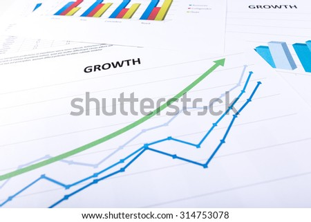 Graph showing economic growth - stock photo