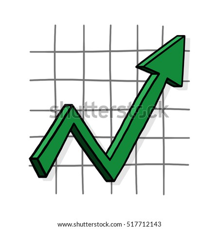 Graph up illustration; Upward trend; Business graph