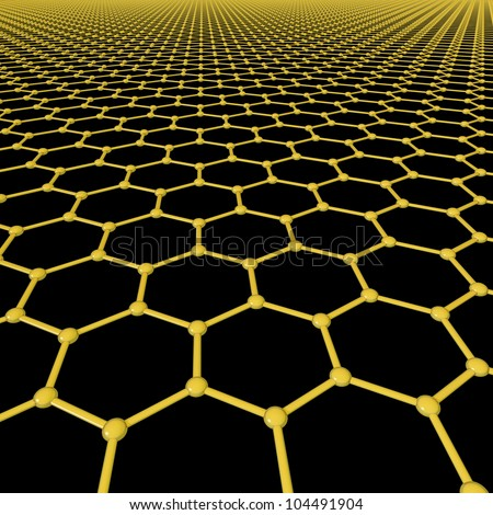 Graphene molecules forming a background - stock photo
