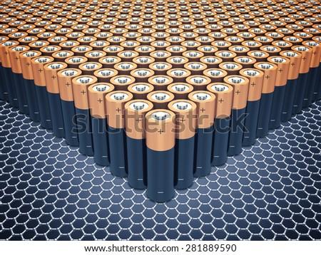 Graphene supercapacitor batteries , Nanotechnology  - stock photo