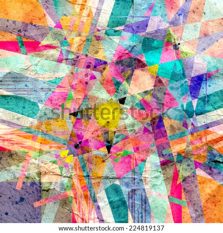 graphic abstract background with geometric elements