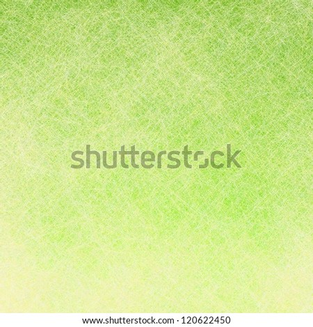 graphic art use as spring green background or frosty Christmas background with white, linen texture parchment canvas overlay, or bright lime green Easter background pastel color, for brochure poster - stock photo