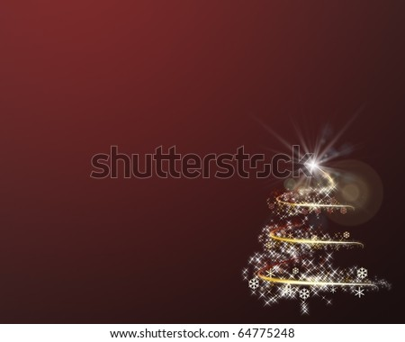Graphic background of Christmas tree