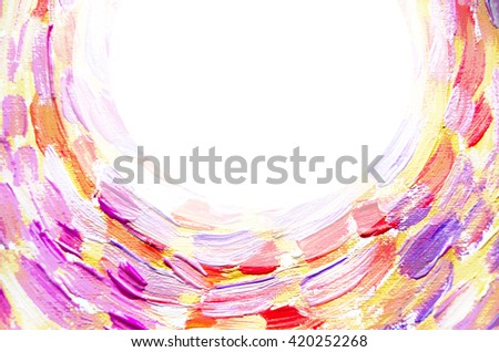 Graphic billet for business cards, flyers, posters, banners, leaflets, advertising. Abstract painting. Brush strokes lines with space for text or image. - stock photo