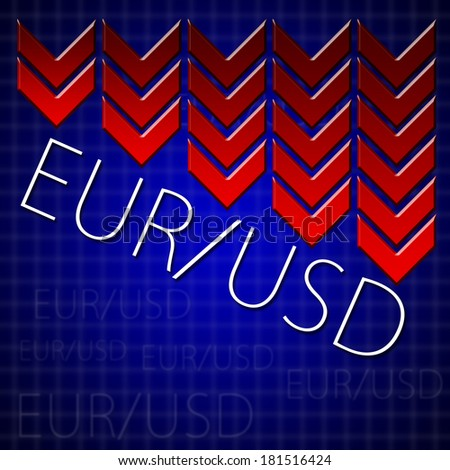 Graphic design trading related illustrating currency drop - stock photo