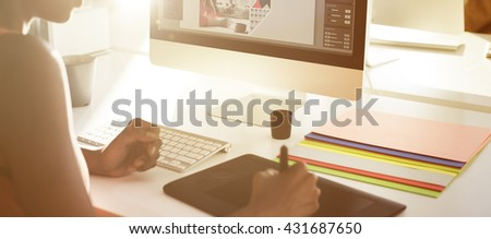 Graphic Designer Creativity Editor Ideas Designer Concept - stock photo