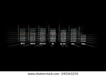 graphic equalizer with black background - stock photo