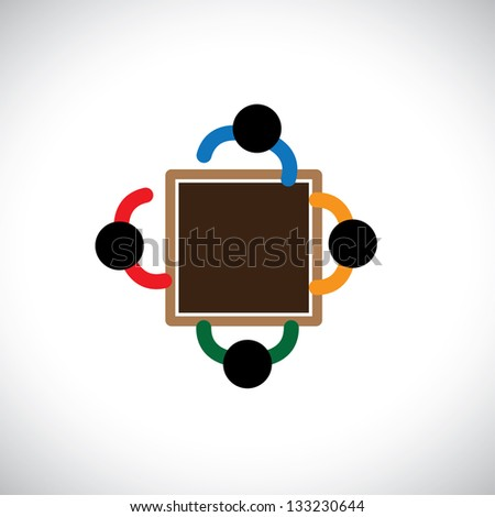 Graphic of Secure family people - stock photo