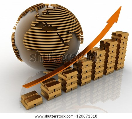Graphic of success concept. 3d render. - stock photo