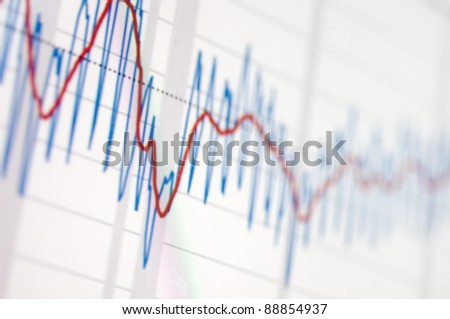 graphic pattern on the stock market values