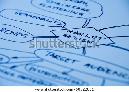 Graphic representation of market targeting and management - stock photo