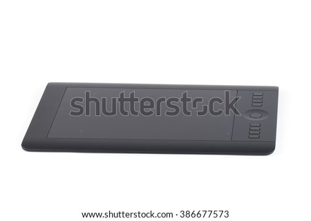 Graphic tablet for illustrators and designers, isolated on white background.