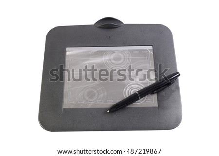 graphic tablet. Isolated on white