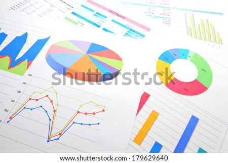 Graphical chart analysis - stock photo