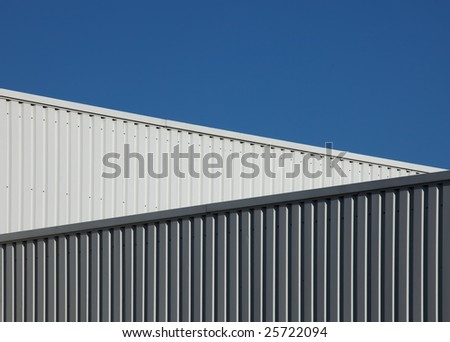 graphical detail of a ready-made building - stock photo