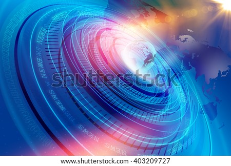 Graphical Modern Digital World News Studio Background, Abstract Digital World with Digital Binary Code Numbers Background .