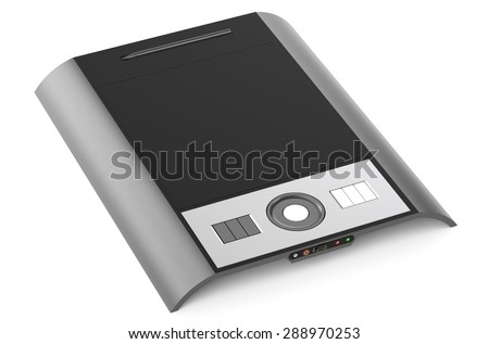 graphics tablet closeup isolated on white background