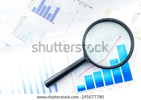 Graphs - stock photo