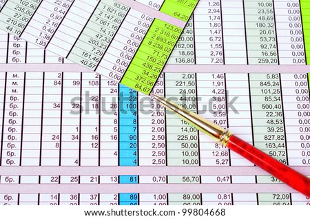 Graphs, charts, business table - stock photo
