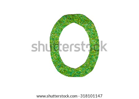 grass alphabet in isolated background design