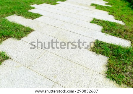 grass and brick background