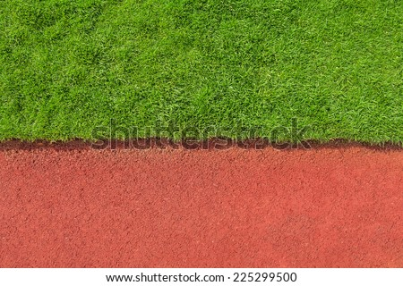 grass and track texture detail - stock photo