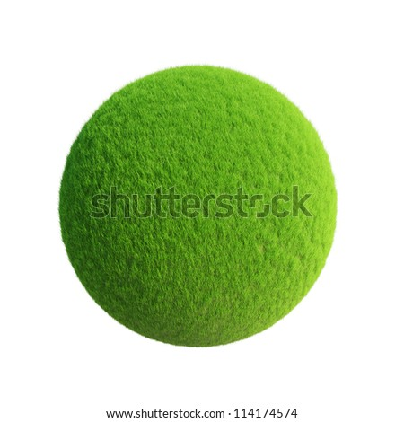 Grass ball Isolated on white