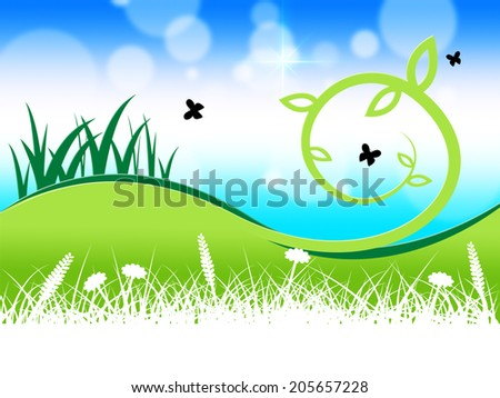 Grass Butterflies Representing Flying Grassy And Green