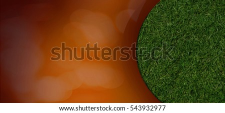 Grass card design with space for text